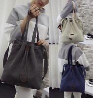 Damentasche Groß Canvas Schultertasche Umhängetasche Reise Messenger Hand tasche