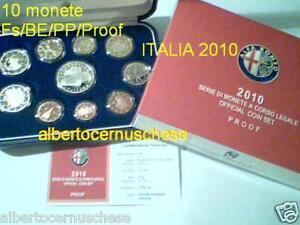 2010 10 monete 10-88 euro Fs BE PP Proof ITALIA Italie Italy Italien Alfa Romeo aL6OFq5F-07140805-633252694