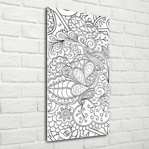 Blumenmuster Schwarz Weiß Wand - Wayneegade