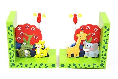 Möbel Sonstige Fein 2 Small Foot Buchstützen Für Kinder Mit Tiermotiven 14x9x16 Cm Buch Stützen Holz Fortgeschrittene Technologie üBernehmen