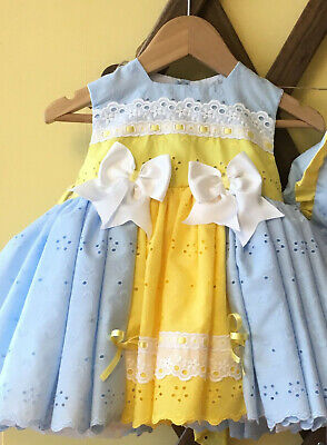PRETTY ORIGINALS  DRESS /& PANTS TURQ AND YELLOW STYLE MB40494E 2Y 3Y