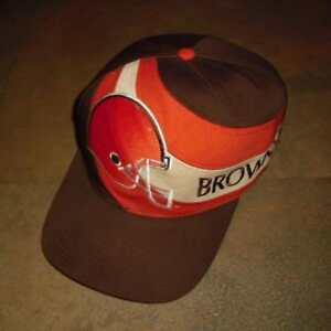 3bdaf476 Cleveland Browns hat SNAPBACK RARE Swirl logo cap 90's vintage RaRe ...