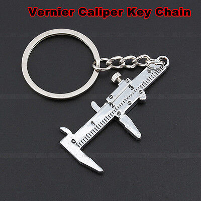 JF-XUAN Vernier Calipers Metal Movable Vernier Caliper Ruler Model Keychain Key Chain Keyring Keyfob Tool Gift Color : Silver
