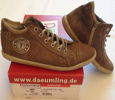 Däumling taupe Unisex Kinder Sneaker 31 S Knöchel Schuhe Halb turino braun Jana