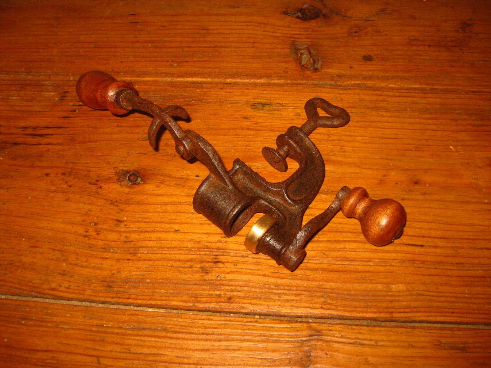 Latón Antiguo de Hierro y herramienta de cartucho de escopeta Recargador recarga Cargador 1900s