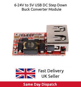 DC-6-24V-12V-24V-to-5V-3A-Car-USB-Charger-Module-Buck-Step-Down-Converter-Phone