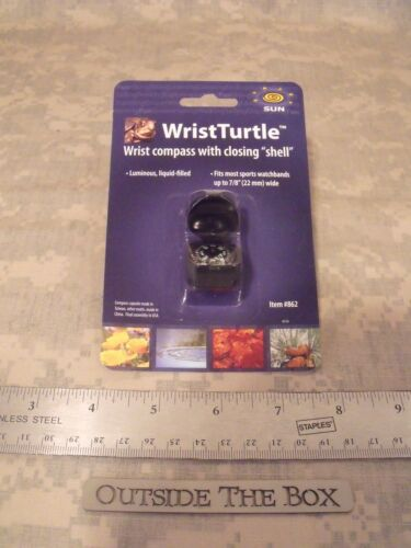 "wristturtle watchband couvert charnière Shell Boussole Sun company s/'adapte à Large 7//8/"""