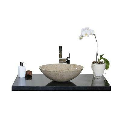 """Waschbecken, Waschschale, Naturstein, Granit, Model """"Rio"""" Gelb, G682, D=42cm"""