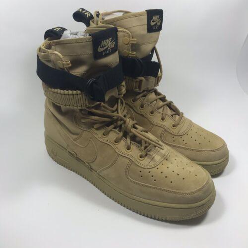 Nike SF Air Force 1 High Wheat 864024-700 Club Gold Mens size 9.5
