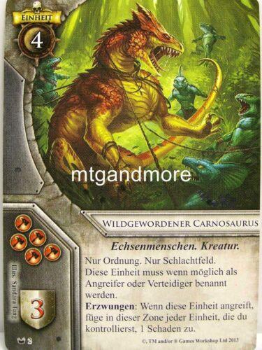 1x Wildgewordener Carnosaurus #002 Verborgene Königreiche Warhammer Invasion