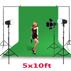 10Ft Photography Studio Non-woven Photo Stand Background Screen Backdrop Kit USA