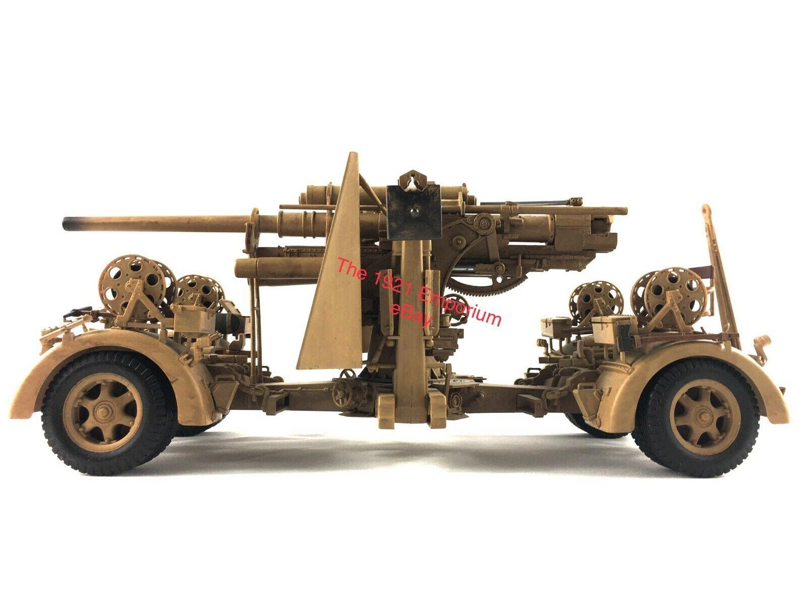 1 18 21st CENTURY TOYS Ultimate Soldier WWII Gerhomme  Afrika Afrikakorps 88 mm Flak Gun  abordable