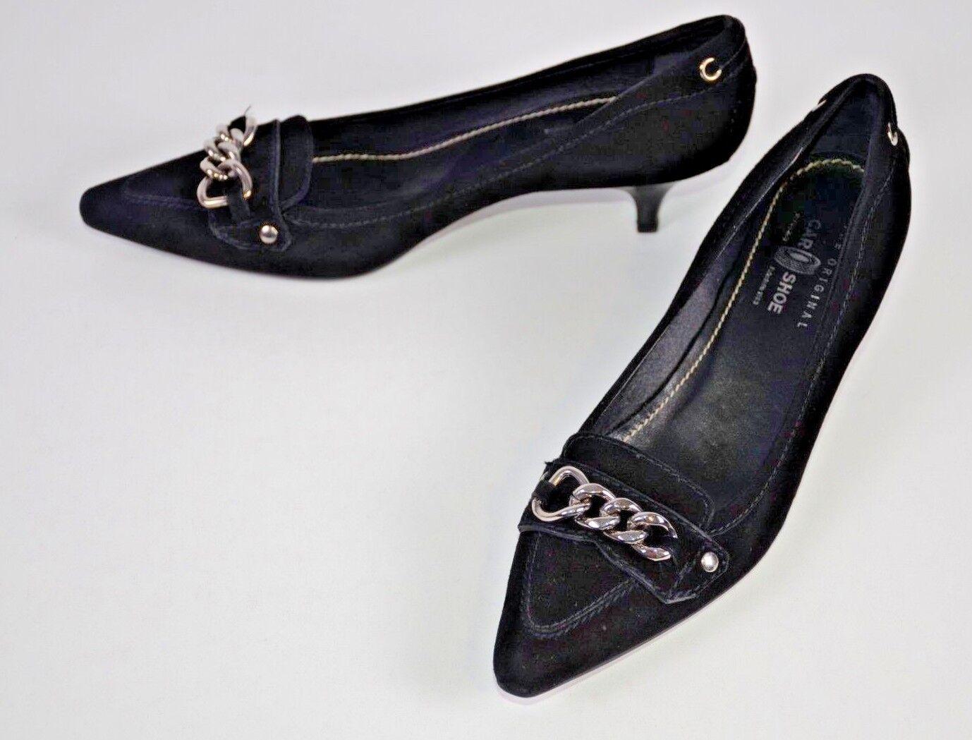 El El El Zapato de coche original Zapatos De Mujer Talla 38 Negro Italia 8 nos Gatito Gamuza puntiagudo  Web oficial