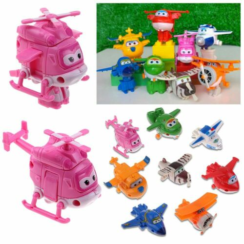 4//8//12Pcs Super Wings Transforming Plane Toy Robot TV Animation Character Gift