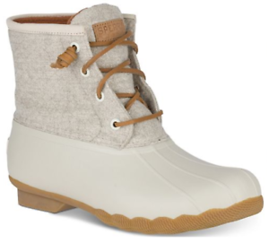 9b245d8c9 SPERRY Top-Sider Canvas Women's Saltwater Duck Booties Off White ...