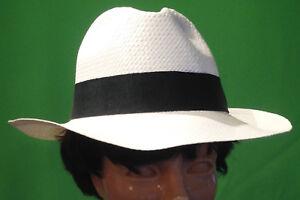 Caricamento dell immagine in corso Cappello-estivo-Panama-Borsalino-Bogart- Fedora-Bianco-Made- 85a31544a459