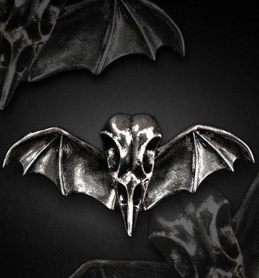 Restyle Haarspange Rabe Flügel Gothic Lolita Hairclip Raven Bat Wings Steampunk
