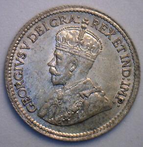 1919-George-de-plata-5-Centavo-pequeno-Niquel-Canadiense-Canada-MONEDA-MS3-cinco