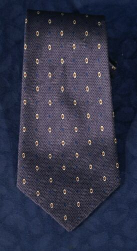 Handsome Dotted Pewter  VIRANY Italy Silk Tie 3 3/