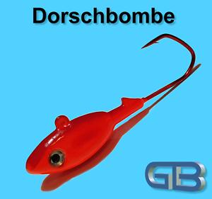Meeresjig-Dorschbombe-43g-58g-70g-Jig-5-0-6-0-Bleikopf-VMC-Barbarian-5150-RD