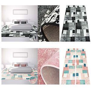 bettumrandung teppich modern l ufer inspiration used vintage pastel rosa schwarz ebay. Black Bedroom Furniture Sets. Home Design Ideas
