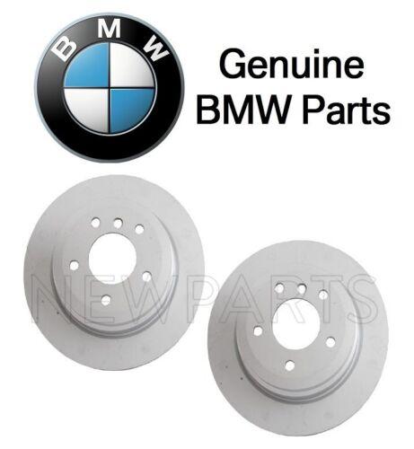 For BMW E84 E90 E91 E92 E93 Set of Two Rear Brake Disc Rotors w// Pads Genuine