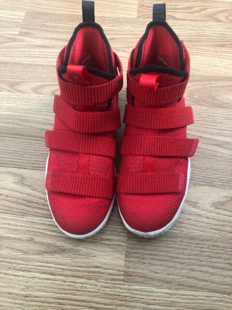 release date 19651 d98df Nike Lebron James Soldier XI 11 University Red Black Youth Grade School  Size 5.5