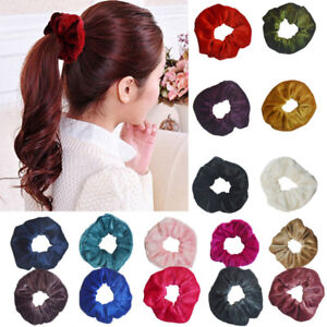 2019 New Fashion Hair Scrunchies Velvet For Women Elastic Hair Bands 11 Colors Scrunchies Para El Cabello Girls Head Rope 1pcs Back To Search Resultsapparel Accessories
