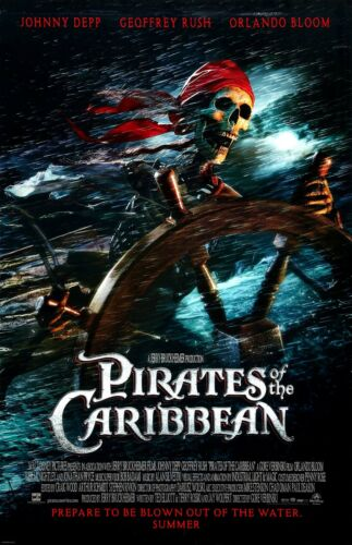 "11/"" x 17/"" Skellington Pirate Pirates Of The Caribbean movie poster"