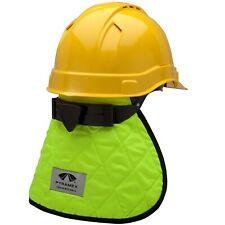 Hi Vis Safety Hard Hat Sun Shield Full Brim Cap Sun Shade Neck Flap Cooling Pad