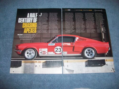 "1968 Ford Mustang Fastback Autocross Race Car Article ""A Half Century."""