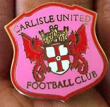 CARLISLE UNITED GIRLS PINK CREST ENAMEL PIN BADGE