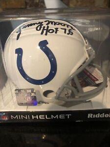 Lenny Moore Auto Mini Helmet HOF Colts Jsa Certified New