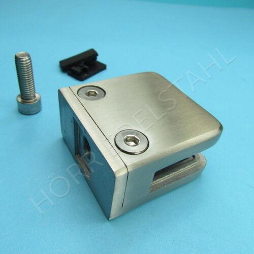 Glashalter rectangulaire 53x53 mm Acier Inoxydable v4a glasklemme verre support