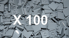 100 x LEGO Town Star Wars Light Grey Tile 2x2 Smooth modular ( part no 3068 )