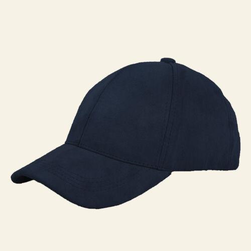 1PC Unisex 6 Panels Faux Suede Baseball Cap Solid Adjustable Sport Outdoor Hat