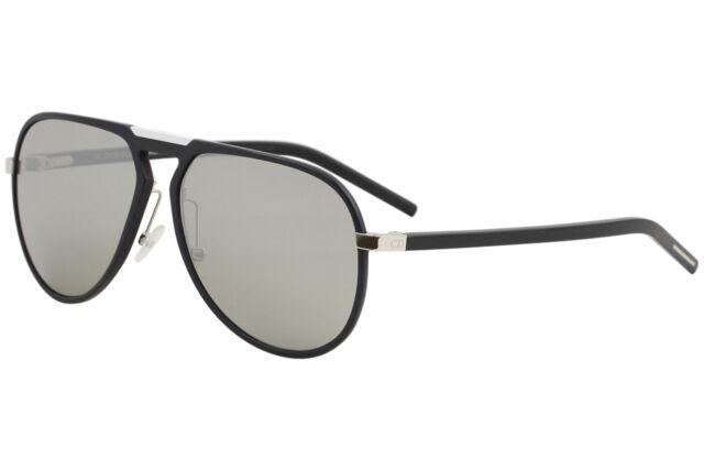 8f192197d6b9f Christian Dior Homme Sunglasses Aluminum 13.2 10gss Matte Black Silver  Mirrored