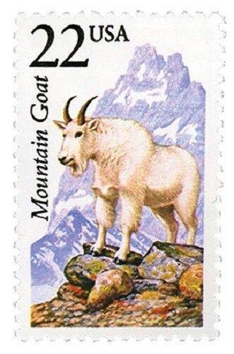 1987 22c Mountain Goat, North American Wildlife Scott 2