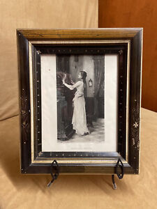 Stunning Victorian Antique Eastlake Deep Well Frame With 1869 Photogravure Print