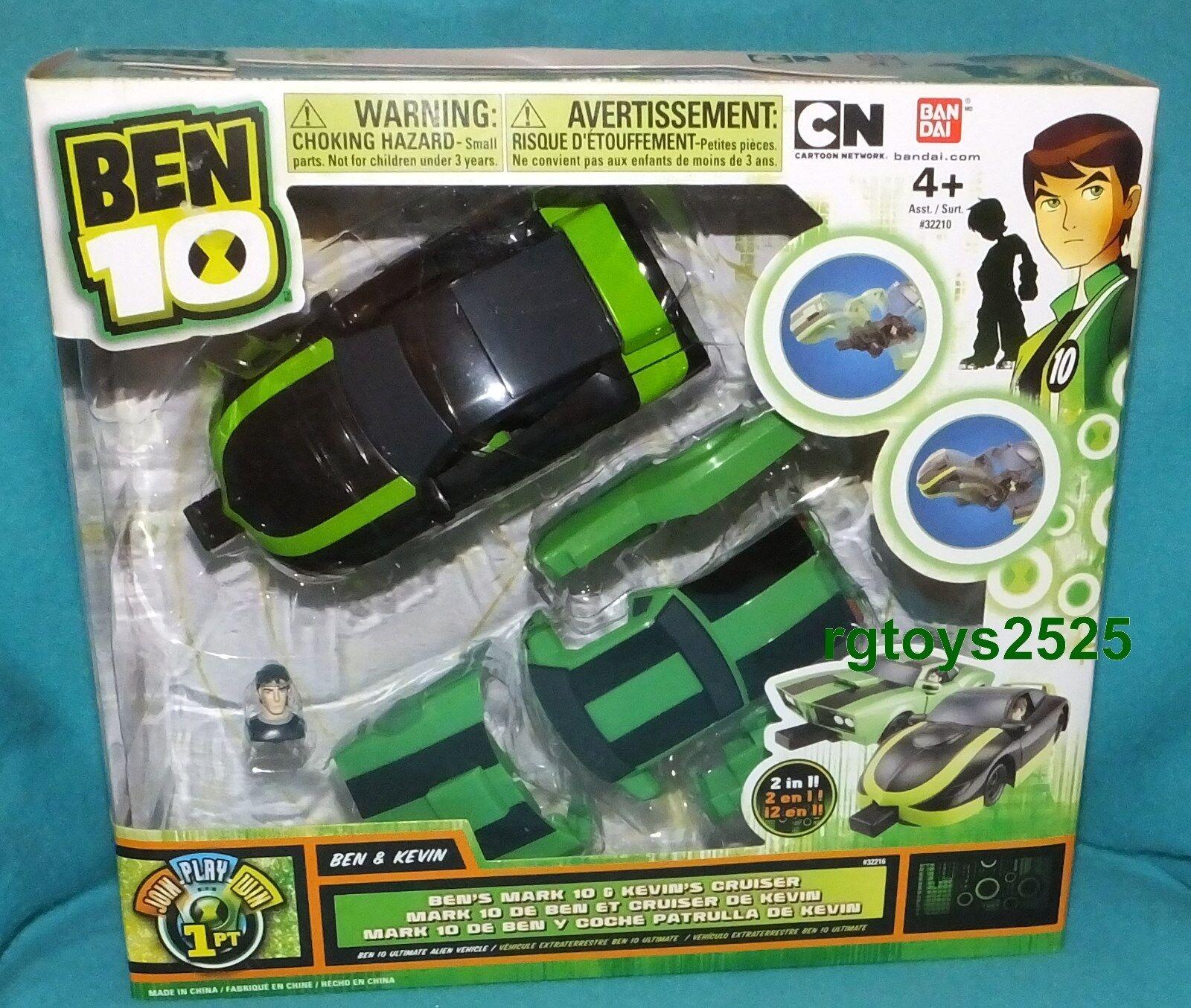 Ben 10 Ben's Mark 10 & Kevin's Cruiser 2 en 1 Cochetoon Network Nuevo Sellado De Fábrica
