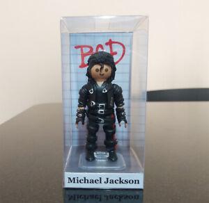 Playmobil custom Michael Jackson 4 figures bad , billie jean , history and wanna