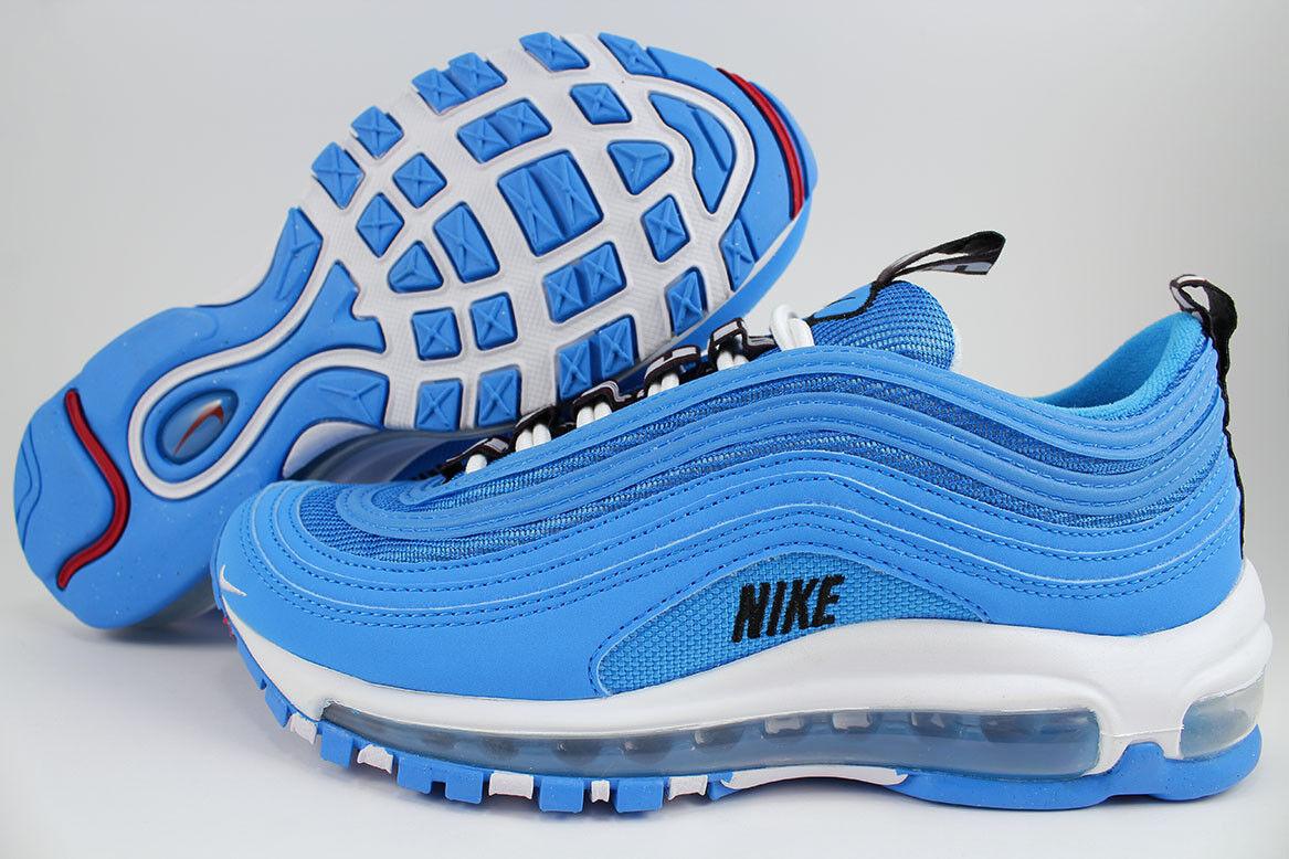 NIKE AIR MAX 97 SE GS blueE HERO WHITE BLACK RUNNING WOMEN KIDS US YOUTH SIZES