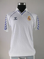 Real Madrid Home Football Shirt Jersey (XL) 1986-1989 Original
