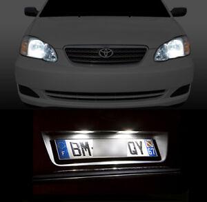 4-ampoules-a-LED-blanc-feux-de-plaque-feux-de-position-pour-Toyota-Corolla