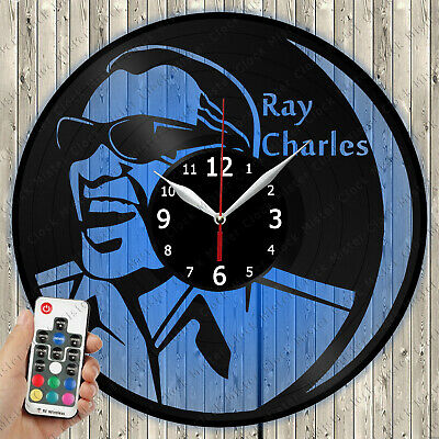 Details about  /LED Clock Ray Charles LED Light Vinyl Record Wall Clock LED Wall Clock 508