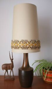 Retro Conical Lampshade with Vintage Trim - Oatmeal or Ivory