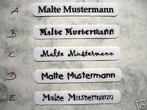 Wunschname Blitzlieferung   10 Wäscheschilder  Namensschilder Wäscheetiketten