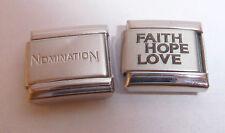 FAITH HOPE LOVE 9mm Italian Charm +1x Genuine Nomination Classic Link N257 I YOU