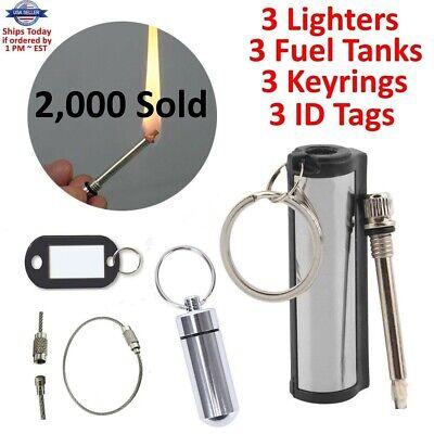 100x Waterproof Match Permanent Lighter Striker Fire Starter Emergency Survival
