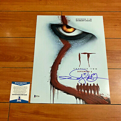 Andy Muschietti signed IT movie poster photo proof Andres Chapter 2 Pennywise